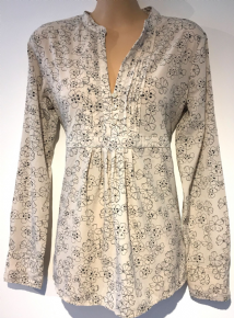 GAP MATERNITY CREAM FLORAL BLOUSE TOP  SIZE XS UK 8